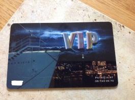 Fick nytt VIP-kort som min Partner fixade! Tack!