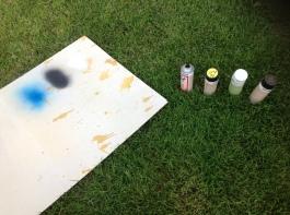 Började måla min och K:s stora tavla.