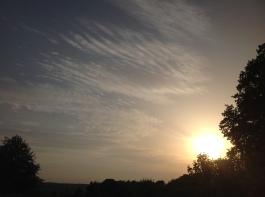 Solnedgång över Noras Borg.
