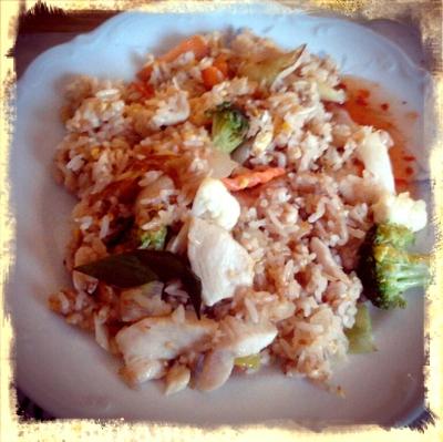 Åt sjukt god thaimat.