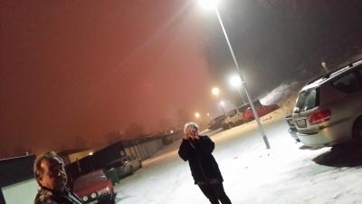 Sjukt dimmigt var det också, så tyvärr blev det ju inte den där riktigt härliga och fina upplevelsen av fyrverkerier som lyser upp himlen.