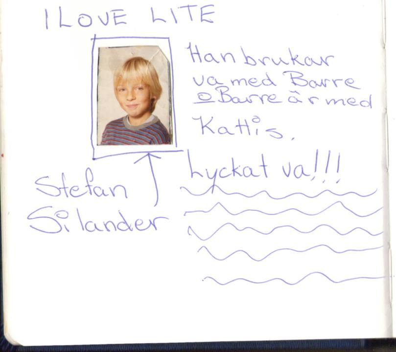 """Och den här då, jag dör så sött.  """"I LOVE LITE"""".  haha, sorry Stefan, var visst bara lite kär i dig. :D"""