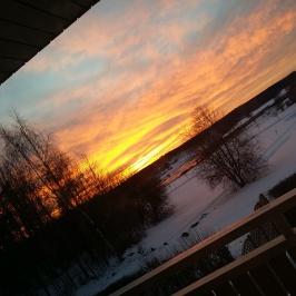 Njöt av solnedgång.