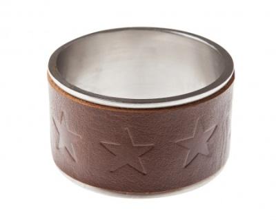 Leather & Metal Napkin Ring-98kr-lexington