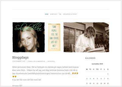 Byte av layout på bloggen - NY - 151103