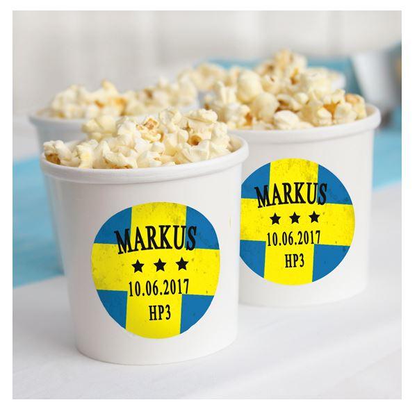 Popcorn-godisburk-Etiketter