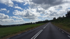 Härligt molntäcke på väg mot Karlstad.